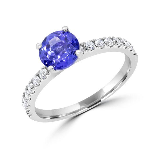 Tanzanite & diamond engagement ring 1.83 (ctw) in 14k white gold