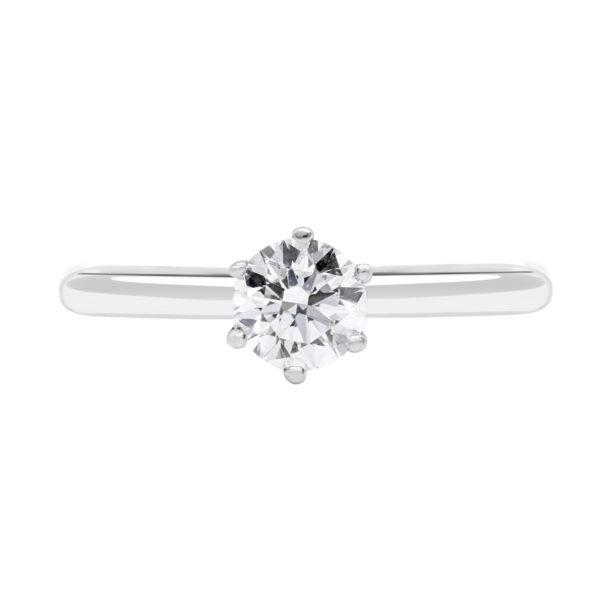 Gallery solitaire engagement ring 0.50 (ctw)14k white gold