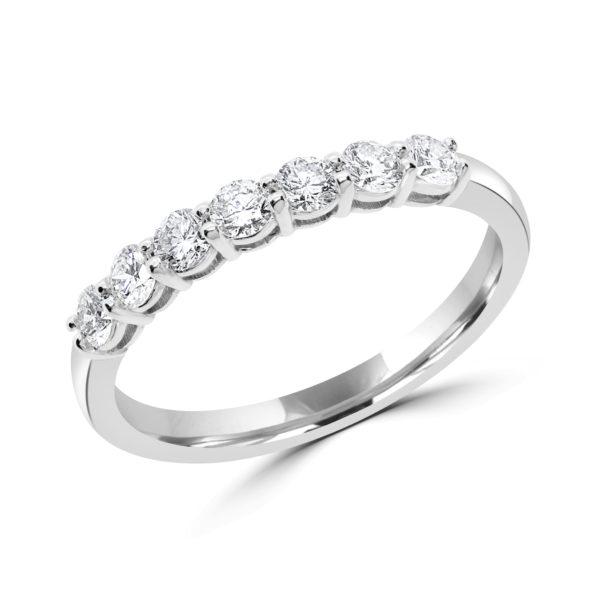 Half carat semi-eternity ring 0.50 (ctw) in 14k gold