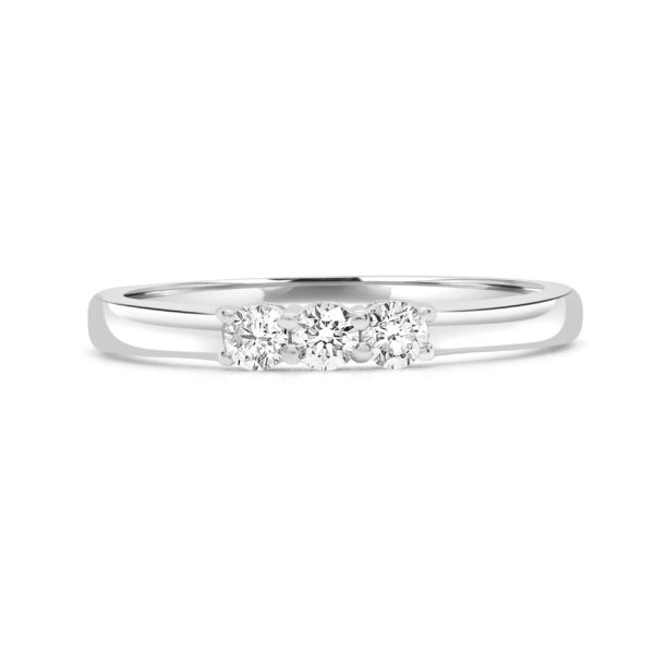 Lovable trinity ring 0.24 (ctw) in 14k gold