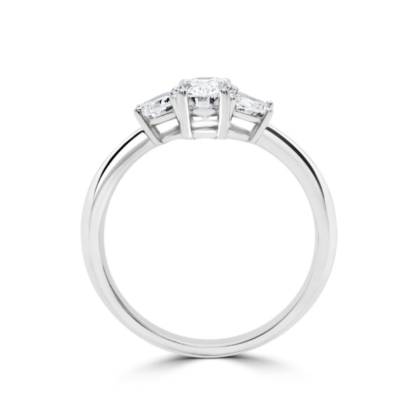 Half moon oval engagement ring 1.63 (ctw) in 14k gold