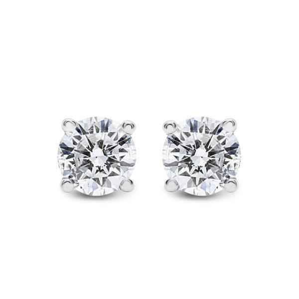 Diamond stud earrings 0.72 (ctw) in 14k white gold