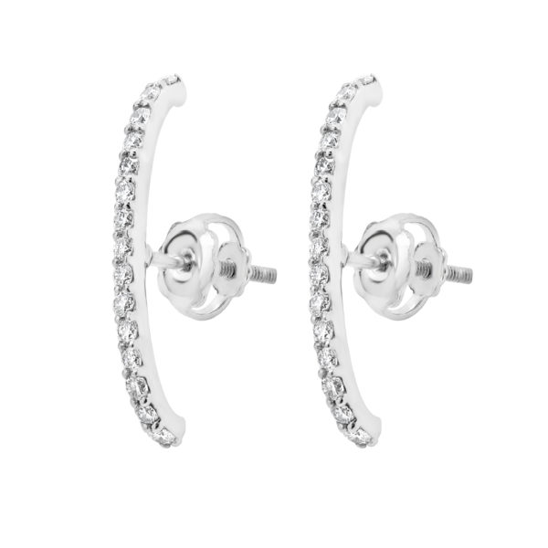 Stylish diamond earrings 0.30 (ctw) 14k white gold