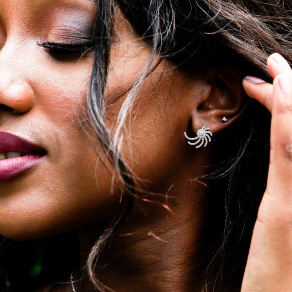 Spiral diamond earrings 0.60 (ctw) in 14k white gold