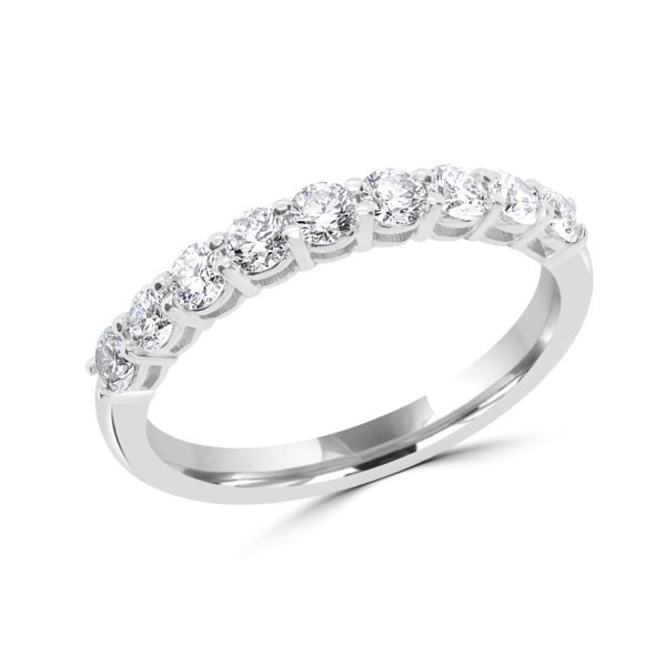 Perfect match semi-eternity ring 0.70 (ctw) in 14k gold