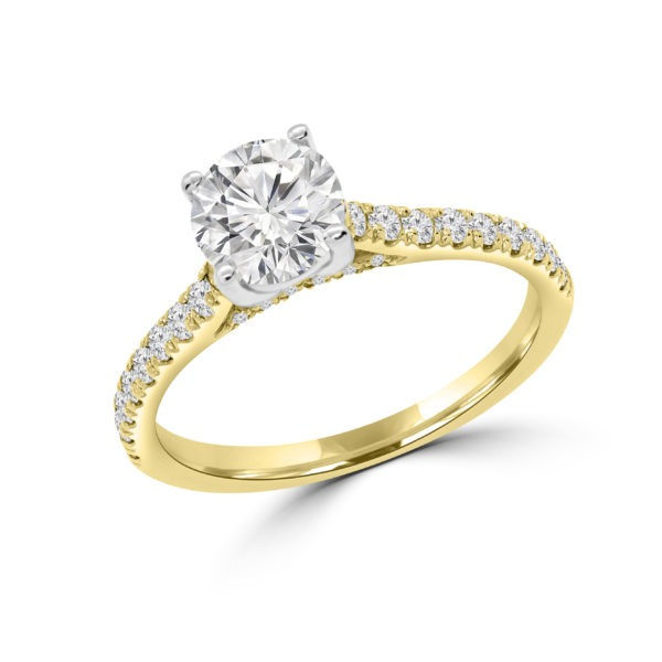 Flawless solitaire diamond ring 1.67 (ctw) in 14k yellow gold